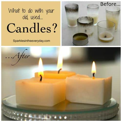 What to do with your old, used candles? - Top 10 Craft and Recipe Ideas For 2015 from Sparkles In The Everyday!