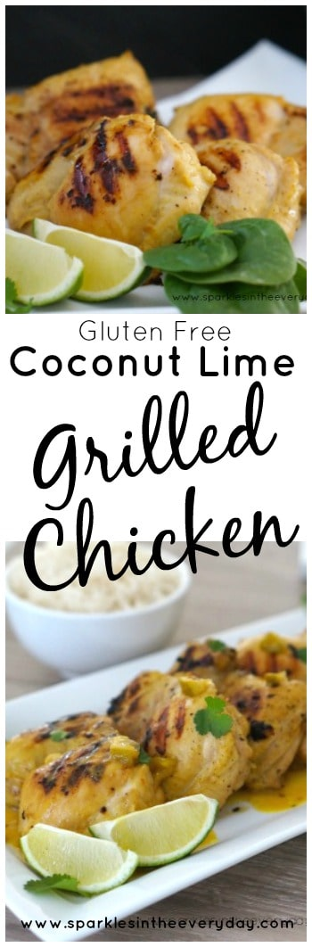 Coconut and Lime Grilled Chicken recipe and it is gluten free too!