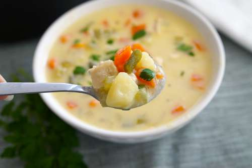 Cheesy Chicken Chowder Gluten Free