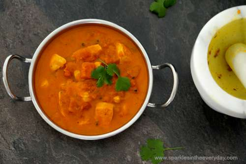 Tomato and Chicken Curry - Sparkles In The Everyday