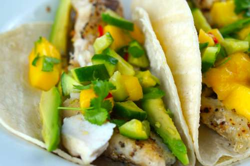 Fish Tacos with Mango Salsa!
