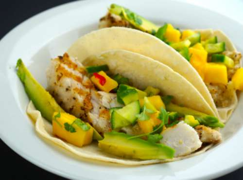 Gluten Free Fish Tacos with Mango Salsa