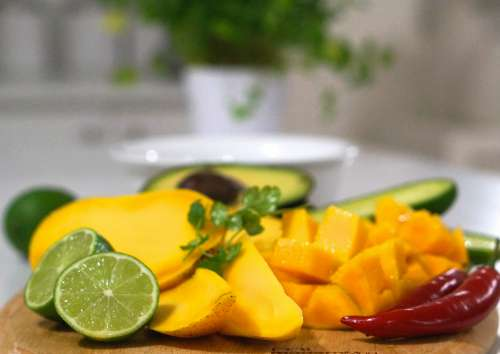 Mango Salsa ingredients