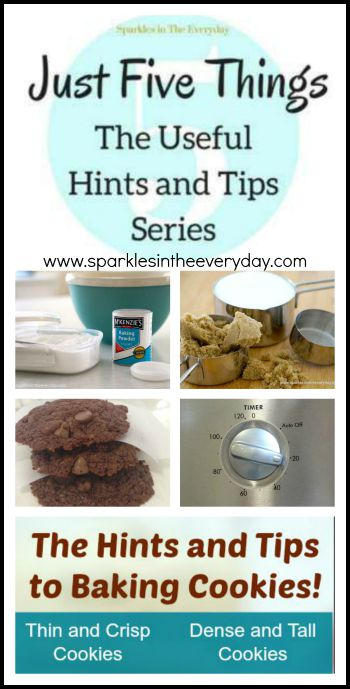 Hints and tips to baking cookies