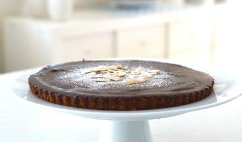 Chocolate and Coconut Cream Gluten Free Tart