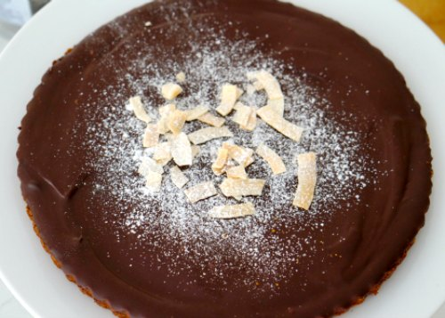 Chocolate and Coconut Cream Gluten Free Tart
