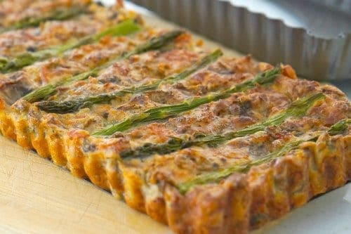 Gluten Free Asparagus, Mushroom and Bacon Slice