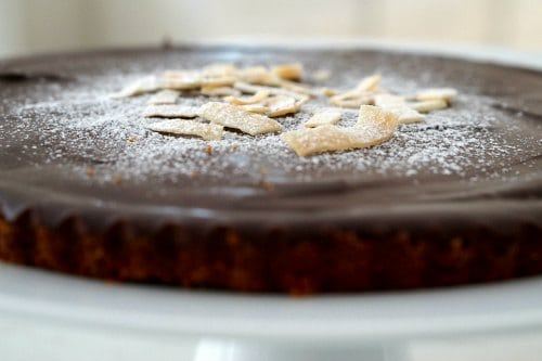 Gluten Free Chocolate and Coconut Tart .