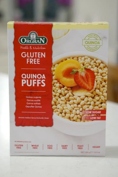 Orgran's Gluten Free Quinoa Puffs to make Delicious Gluten Free Tahini and Quinoa Bars