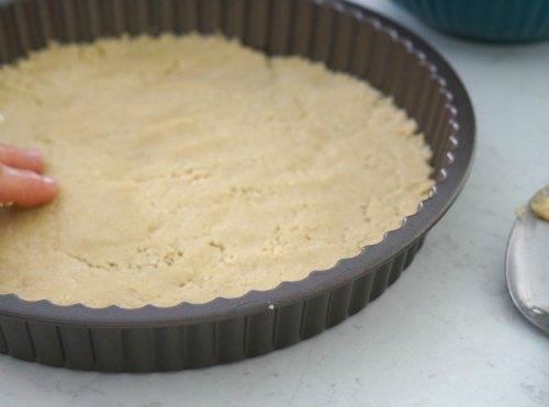 making base for gluten free chocolate tart