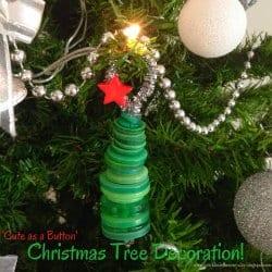 Christmas Tree Button Decoration