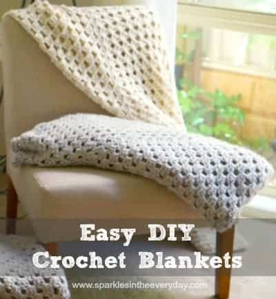 All the steps to Easy DIY Crochet Blankets - Top 10 Craft and Recipe Ideas For 2015 from Sparkles In The Everyday!