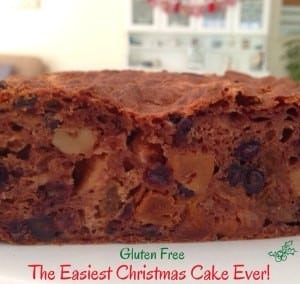 The easiest Christmas Cake Ever ...gluten free too!