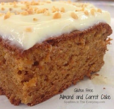Almond and Carrot Cake Gluten Free! - Top 10 Craft and Recipe Ideas For 2015 from Sparkles In The Everyday!