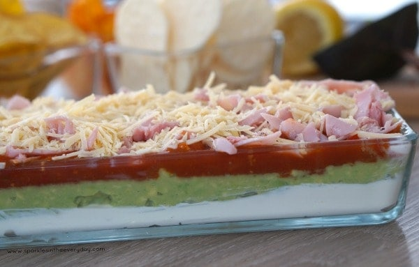 Easy 5 layer dip for entertaining!