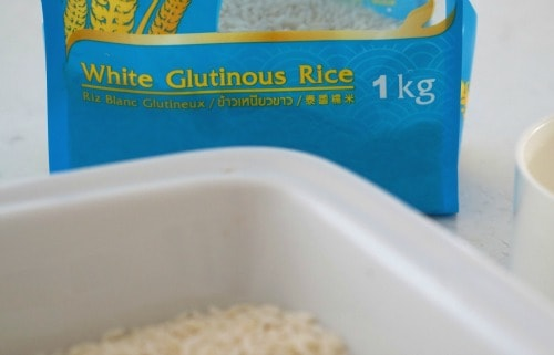 Glutinous Rice for Easy Thai Sticky Rice with Mango