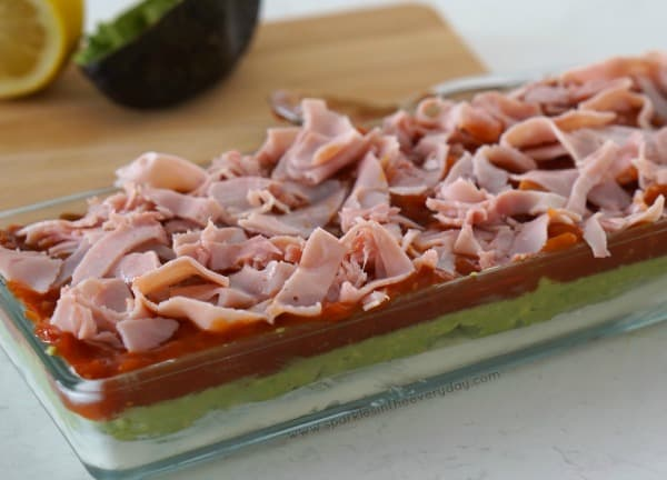 Ham on the Gluten Free 5 Layer Dip recipe!