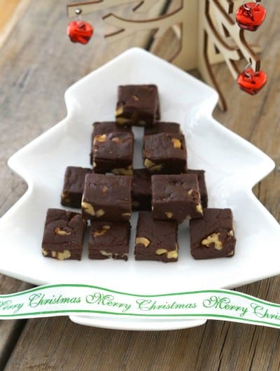 Merry Christmas Easy Dark Chocolate Fudge