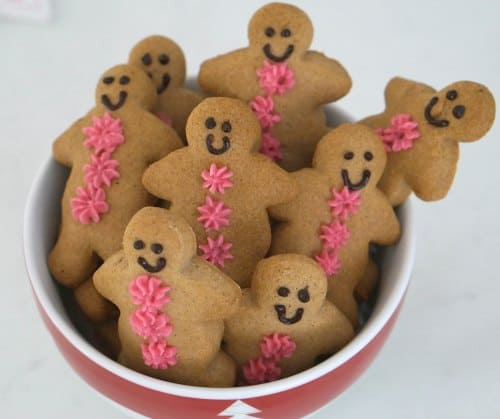 a bowl of Gluten Free Gingerbread Men