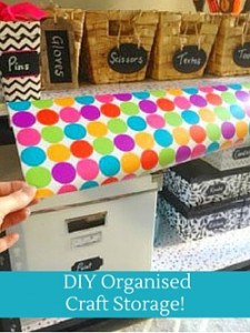 DIY Organised Craft Storage!