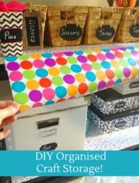DIY Organised Craft Storage with all the tips