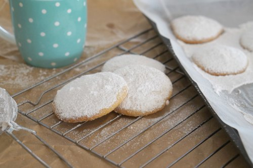 Easy Gluten Free Vanilla and Almond Cookies goes perfectly with hot tea!