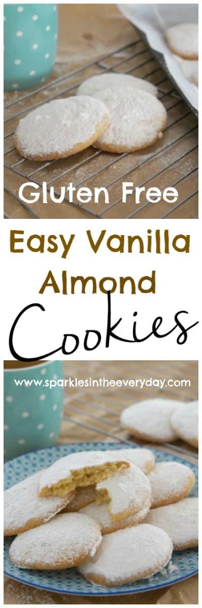 Gluten Free Easy Vanilla Almond Cookies!