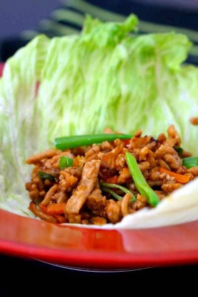 Gluten Free San Choy Bau with crisp lettuce
