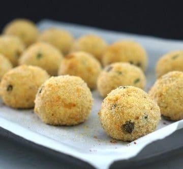 Baked Gluten Free Tuna and Ricotta Balls