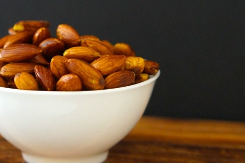 Gluten free snack ideas- Curried Almonds