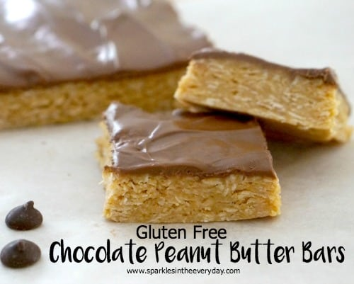 Gluten Free Chocolate Peanut Butter Bars - delicious and easy
