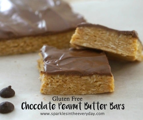 Gluten Free Chocolate Peanut Butter Bars...just too good!