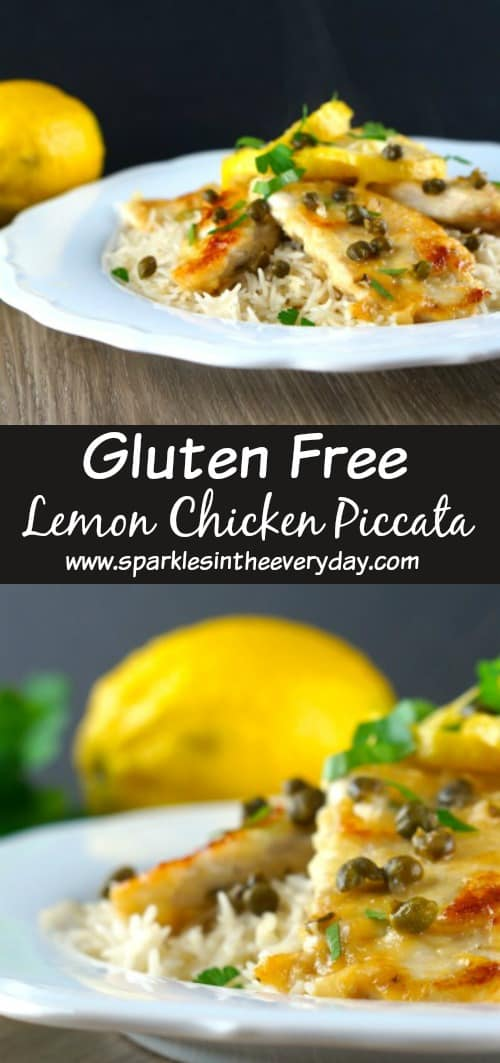 Gluten Free lemon Chicken Piccata in 5 easy steps