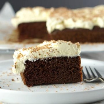 A slice of The best Gluten Free Chocolate Cake