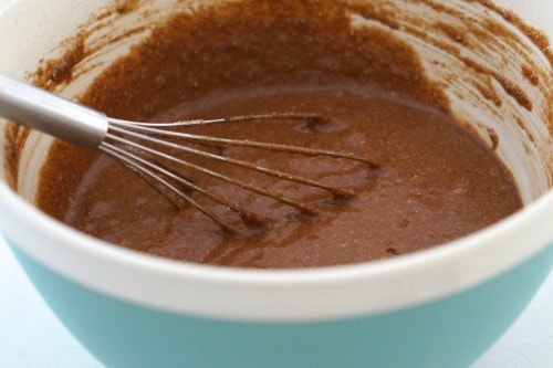 Adding the gluten free flours to The Best Gluten Free Chocolate Cake