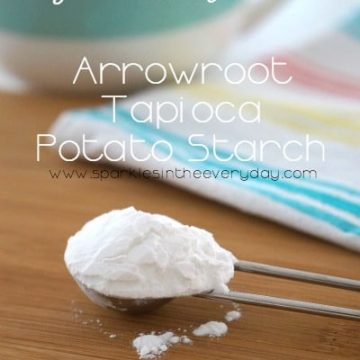 Arrowroot, Tapioca and Potato Starch for gluten free cooking