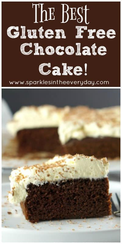 The Best Gluten Free Chocolate Cake and it is so easy too!