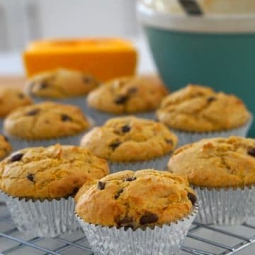 Delicious Australian Pumpkin and Chocolate Chip Muffins! (GF)