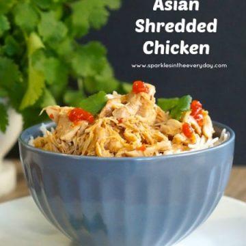 Gluten Free Asian Shredded Chicken in the slow cooker!