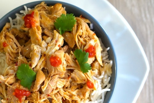 Gluten Free Slow Cooker Asian Shredded Chicken