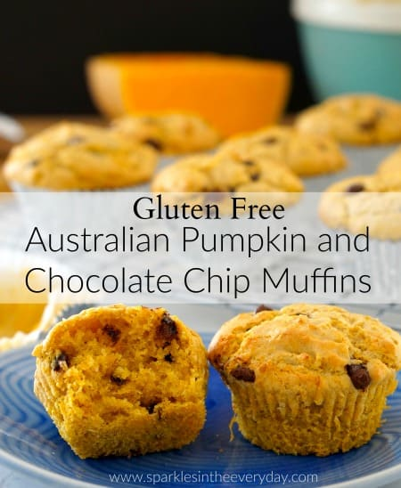 Gluten Free Australian Pumpkin and Chocolate Chip Muffins (GF)!