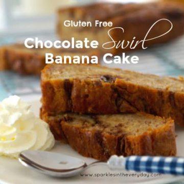 Gluten Free Chocolate Swirl Banana Cake