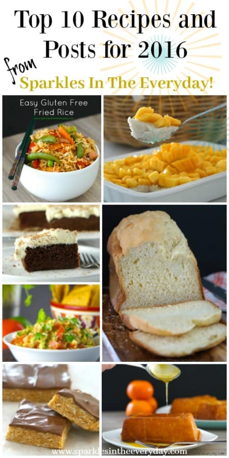 Most popular recipes and posts from 2016 from Sparkles In The Everyday!