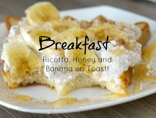 Delicious Gluten Free Breakfast Healthy Ricotta, Honey and Banana on Toast recipe!