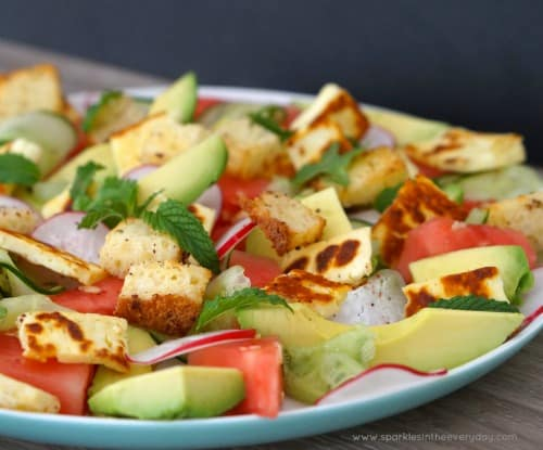 Easy Halloumi, Radish and Watermelon Salad Recipe!