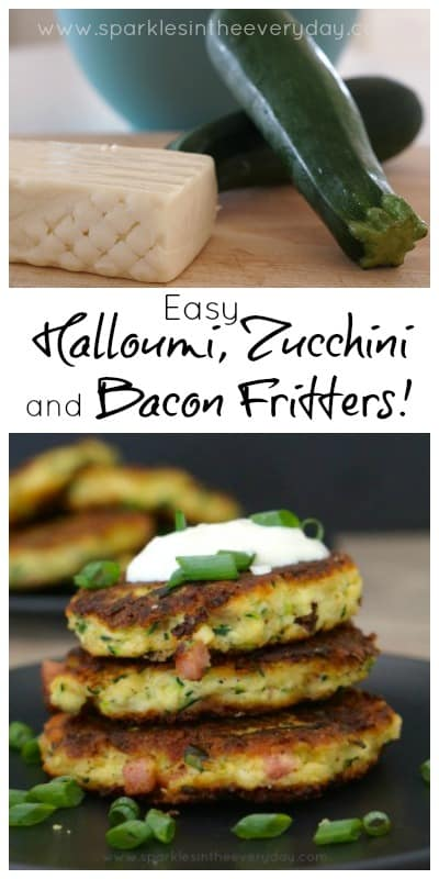 Easy Halloumi, Zucchini and Bacon Fritters recipe (Gluten Free too)