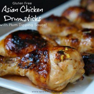 Gluten Free Asian Chicken Drumsticks with Plum Sauce