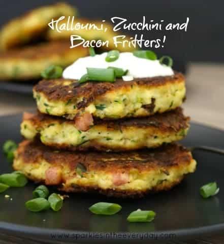 Halloumi, Zucchini and Bacon Fritters recipe!