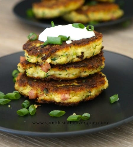 How to make Halloumi, Zucchini and Bacon Fritters (gluten free too!)