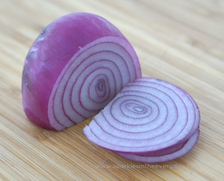 Red Onion for Crispy Hasselback Potatoes with Caramelised Onion recipe